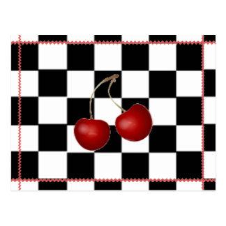 Retro Postcard ~ Cherry Summertime