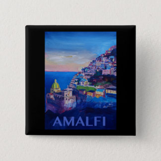Retro Poster Amalfi Coast italy 2 Inch Square Button