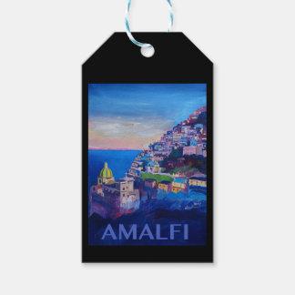 Retro Poster Amalfi Coast italy Gift Tags