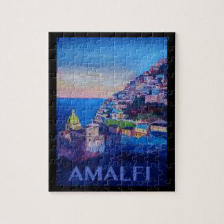 Retro Poster Amalfi Coast italy Jigsaw Puzzle