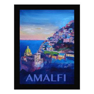 Retro Poster Amalfi Coast italy Letterhead