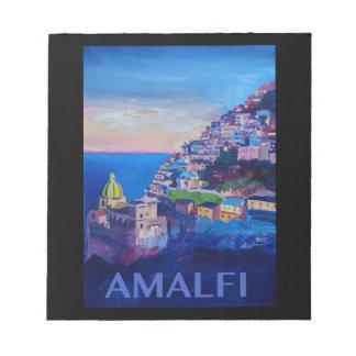 Retro Poster Amalfi Coast italy Notepad