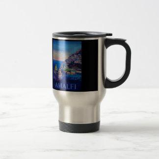 Retro Poster Amalfi Coast italy Travel Mug