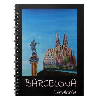Retro Poster Barcelona Notebooks
