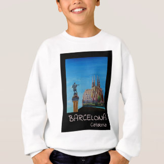 Retro Poster Barcelona Sweatshirt
