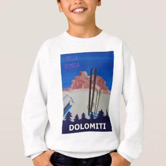 Retro Poster Dolomiti Italy at Sella Ronda Sweatshirt