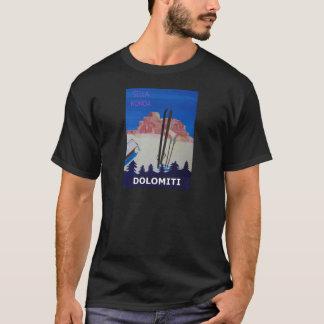 Retro Poster Dolomiti Italy at Sella Ronda T-Shirt