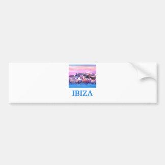 Retro Poster Ibiza Old Town and Harbour Bumper Sticker