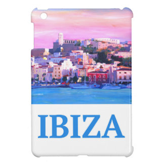 Retro Poster Ibiza Old Town and Harbour Cover For The iPad Mini
