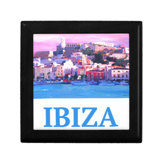 Retro Poster Ibiza Old Town and Harbour Gift Box