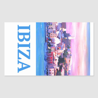 Retro Poster Ibiza Old Town and Harbour Sticker