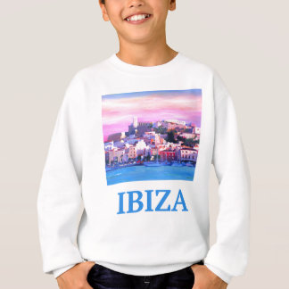 Retro Poster Ibiza Old Town and Harbour Sweatshirt