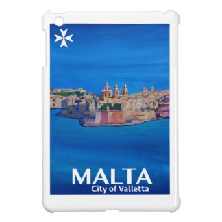 Retro Poster Malta Valetta  - City of Knights iPad Mini Cover