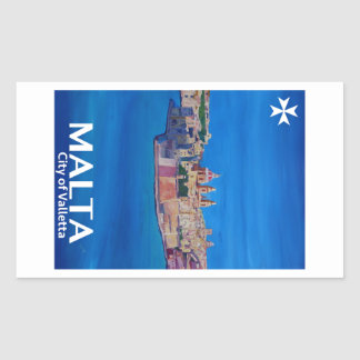 Retro Poster Malta Valetta  - City of Knights Sticker