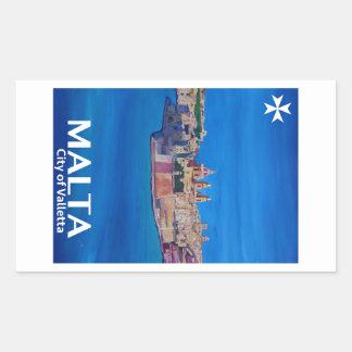 Retro Poster Malta Valetta  - City of Knights Sticker