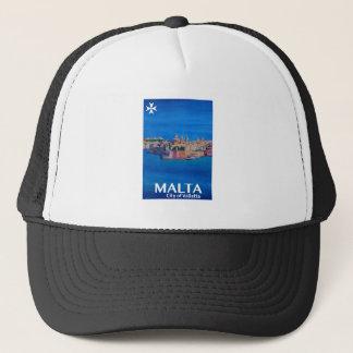 Retro Poster Malta Valetta  - City of Knights Trucker Hat