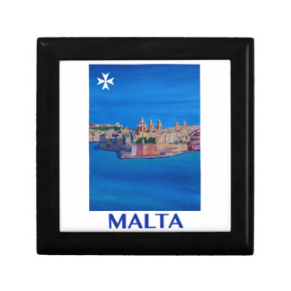 RETRO POSTER Malta Valetta City of KnightsII Gift Box