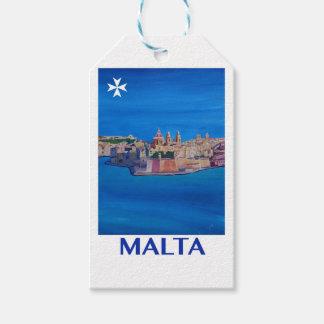 RETRO POSTER Malta Valetta City of KnightsII Gift Tags