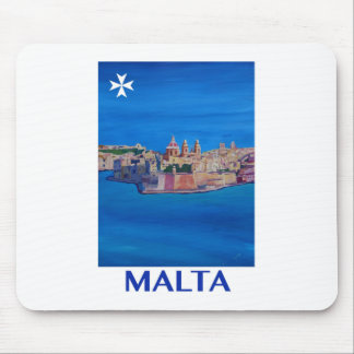 RETRO POSTER Malta Valetta City of KnightsII Mouse Pad