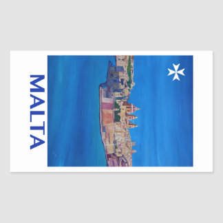 RETRO POSTER Malta Valetta City of KnightsII Sticker