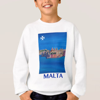 RETRO POSTER Malta Valetta City of KnightsII Sweatshirt