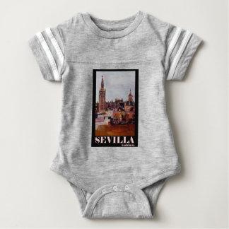 Retro Poster Sevilla Giralda Andalucia Baby Bodysuit