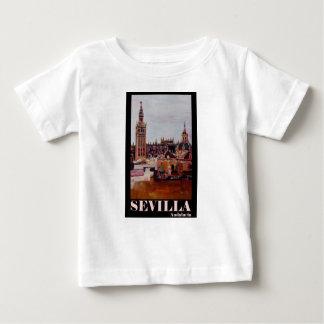 Retro Poster Sevilla Giralda Andalucia Baby T-Shirt