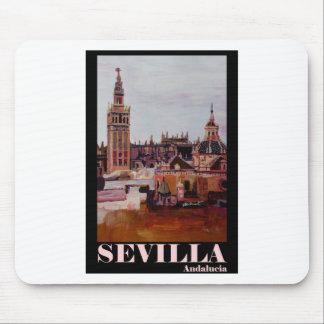 Retro Poster Sevilla Giralda Andalucia Mouse Pad