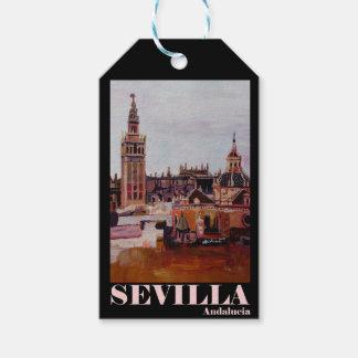 Retro Poster Sevilla Giralda Andalucia Pack Of Gift Tags