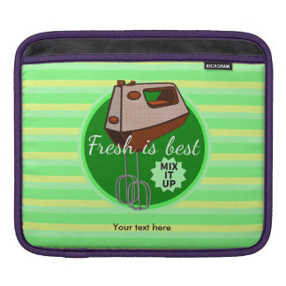Retro poster style kitchen hand mixer iPad sleeve