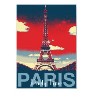 retro poster Vintage France Paris Effiel Tower Card