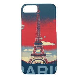 retro poster Vintage France Paris Effiel Tower iPhone 8/7 Case