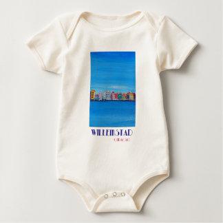 Retro Poster Willemstad Curacao Baby Bodysuit