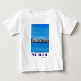 Retro Poster Willemstad Curacao Baby T-Shirt