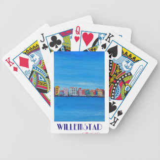 Retro Poster Willemstad Curacao Bicycle Playing Cards