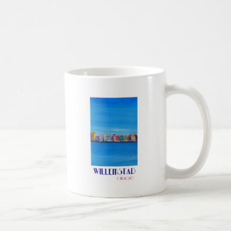 Retro Poster Willemstad Curacao Coffee Mug