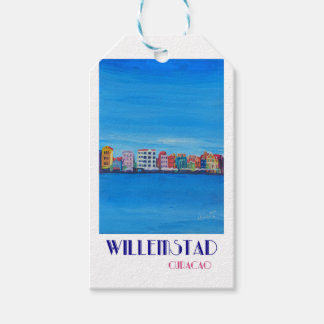 Retro Poster Willemstad Curacao Gift Tags