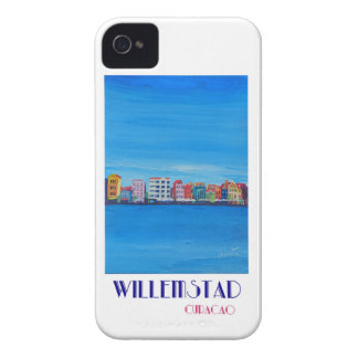 Retro Poster Willemstad Curacao iPhone 4 Cover