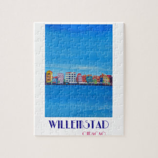 Retro Poster Willemstad Curacao Jigsaw Puzzle