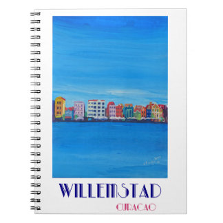 Retro Poster Willemstad Curacao Notebook