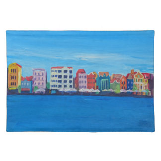 Retro Poster Willemstad Curacao Placemat