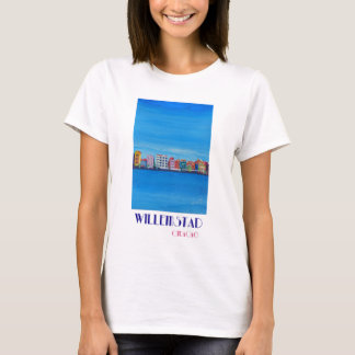 Retro Poster Willemstad Curacao T-Shirt