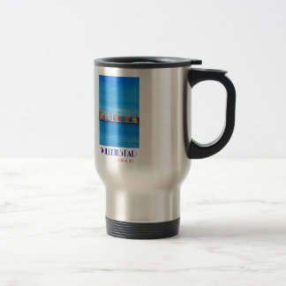 Retro Poster Willemstad Curacao Travel Mug
