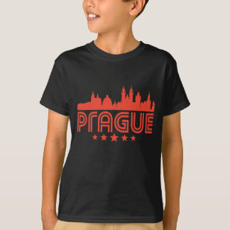 Retro Prague Skyline T-Shirt