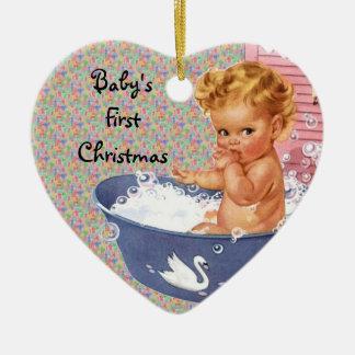 Rétro premier ornement de Noël de Babys