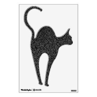 Retro Print Black Cat Wall Decal