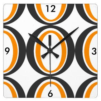 Retro print Kitchen Wall Clock
