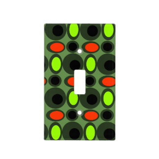 Retro Print Light Switch Plate