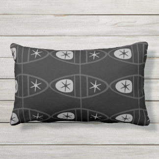 Retro Print Lumbar Pillow