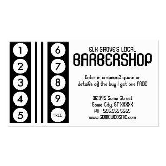 rétro programme de fidélité de raseur-coiffeur cartes de visite personnelles